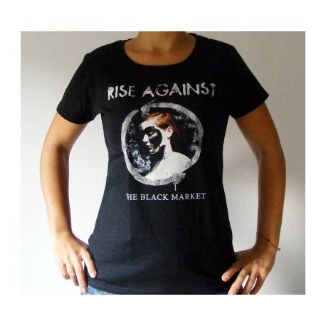 Tricou Girlie RISE AGAINST - The Black Market