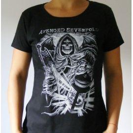 Tricou Girlie AVENGED SEVENFOLD - Skull
