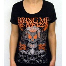 Tricou girlie BRING ME THE HORIZON - Owl And Skulls