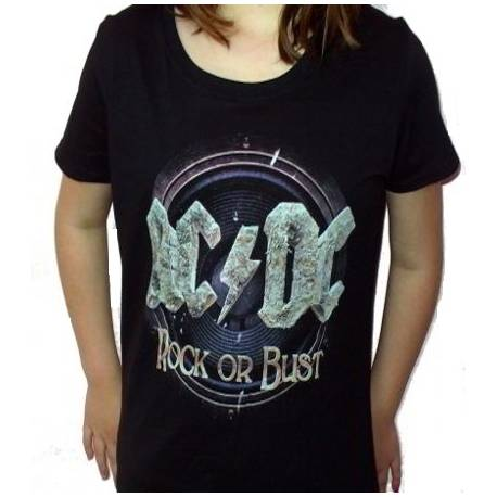 Tricou girlie AC/DC - Rock or Bust