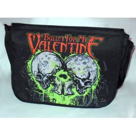 Geanta BULLET FOR MY VALENTINE - Green Skulls