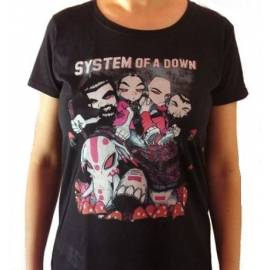 Tricou fete SYSTEM OF A DOWN - Caricatura