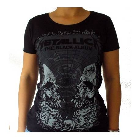 Tricou girlie METALLICA - The Black Album