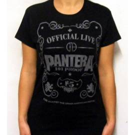 Tricou Girlie PANTERA - Official Live