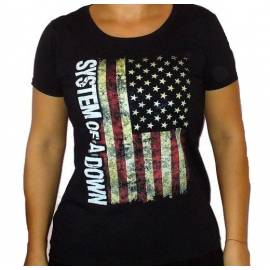 Tricou girlie SYSTEM OF A DOWN - Flag