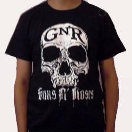 Tricou GUNS N ROSES - White Skull