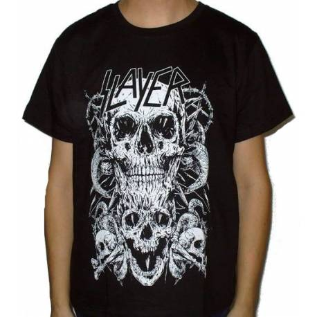 Tricou SLAYER - White Skull