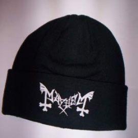 Caciula MAYHEM - Logo alb
