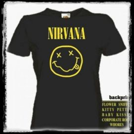 Tricou girlie NIRVANA - Smiling Face