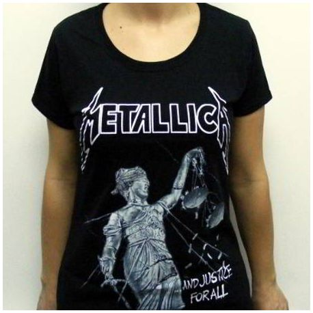 Tricou girlie METALLICA - And Justice For All
