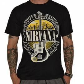 Tricou NIRVANA - Logo Guitar