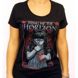 Tricou Girlie BRING ME THE HORIZON - Girl and Bird