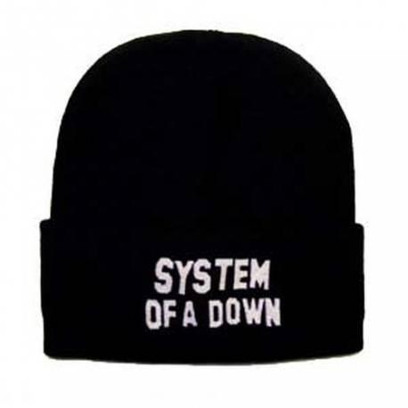 Caciula SYSTEM OF A DOWN - Logo alb