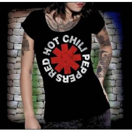 Tricou Girlie RED HOT CHILI PEPPERS - Scratched Logo