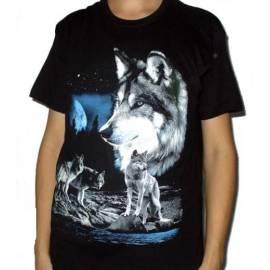 Tricou imprimat - 4 Lupi