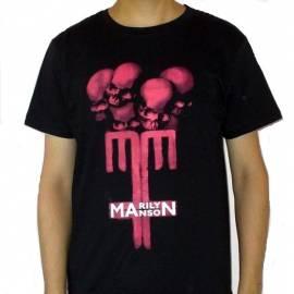 Tricou MARILYN MANSON - Logo & Skulls