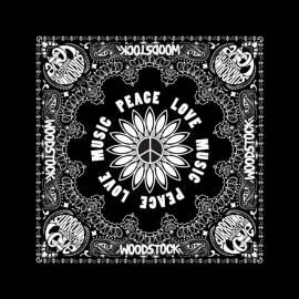 Bandana WOODSTOCK - Peace Love Music