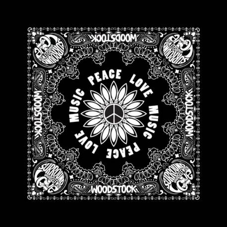 Bandana WOODSTOCK - Peace Love Music