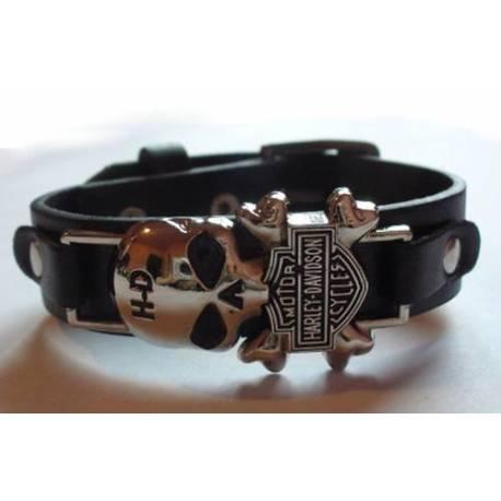 Bratara rock SKULLS FACTORY - Harley Davidson