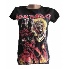Tricou fete IRON MAIDEN - The Number of the Beast