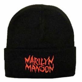 Caciula MARILYN MANSON Logo rosu