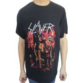 Tricou SLAYER - Devil on Throne
