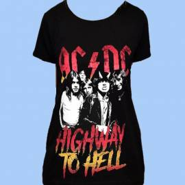 Tricou fete AC/DC - Highway to Hell