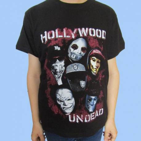 Tricou HOLLYWOOD UNDEAD - Band Masks