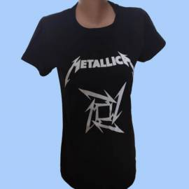 Tricou fete METALLICA - Star - Logo nou