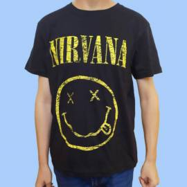Tricou NIRVANA - Scratched Smiley Logo
