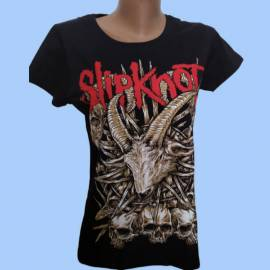 Tricou girlie SLIPKNOT - White Goat