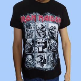 Tricou IRON MAIDEN - 9 Eddie Faces