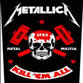 Back patch sau petic textil METALLICA - Metal Militia