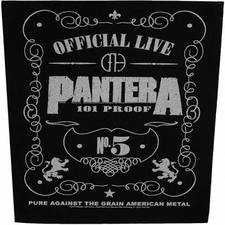 Back patch PANTERA - 101% Proof