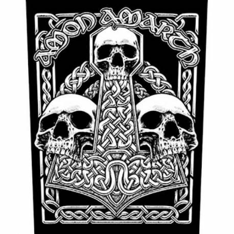 Back patch AMON AMARTH - Three Skulls