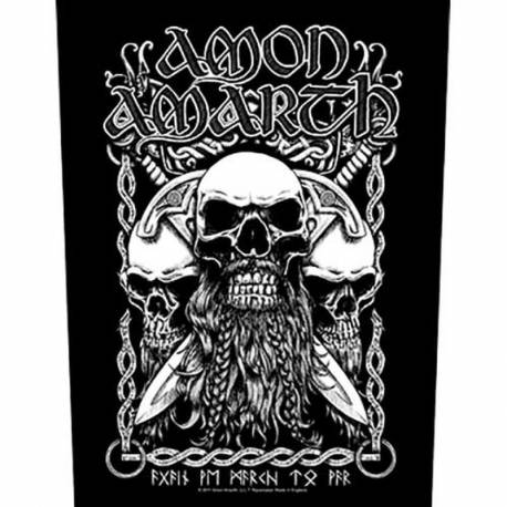 Back patch AMON AMARTH - Bearded Skulls