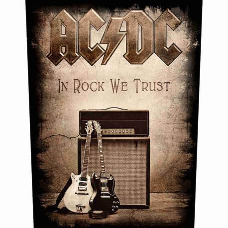 Back patch AC/DC - In Rock We Trust