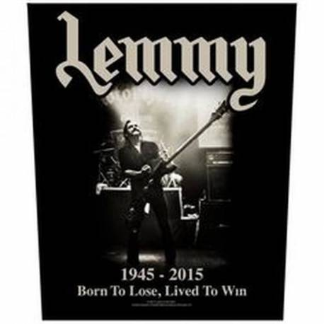 Back patch LEMMY - Born To Lose, Lived To Win