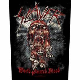 Back patch SLAYER - World Painted Blood