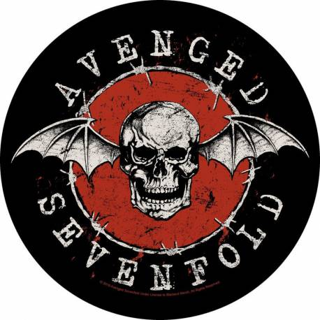 Back patch AVENGED SEVENFOLD - Distressed Skull
